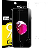 Pack de 2 Verre Trempé iPhone 7, iPhone 8, NEWC® Film Protection écran en Verre trempé - SANS BULLES D'AIR -Ultra Résistant (0,33mm HD Ultra transparent ) Dureté 9H pour iPhone 7, iphone 8