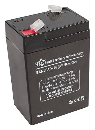 HQ BAT-LEAD-16 Batería recargable de plomo 6V 4.5Ah/20hr