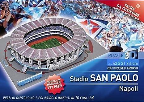 SAN PAOLO Puzzle 3D Stadium 127 Piezas: Amazon.es: Juguetes y juegos