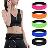GEARWEAR Runners Running Belt Waist Pack for iPhone 8 X 7 Plus Women Men Workout Pocket Belts Phone Holder Waistband Samsung Galaxy Note S8 S7 for Wallking Fitness Jogging