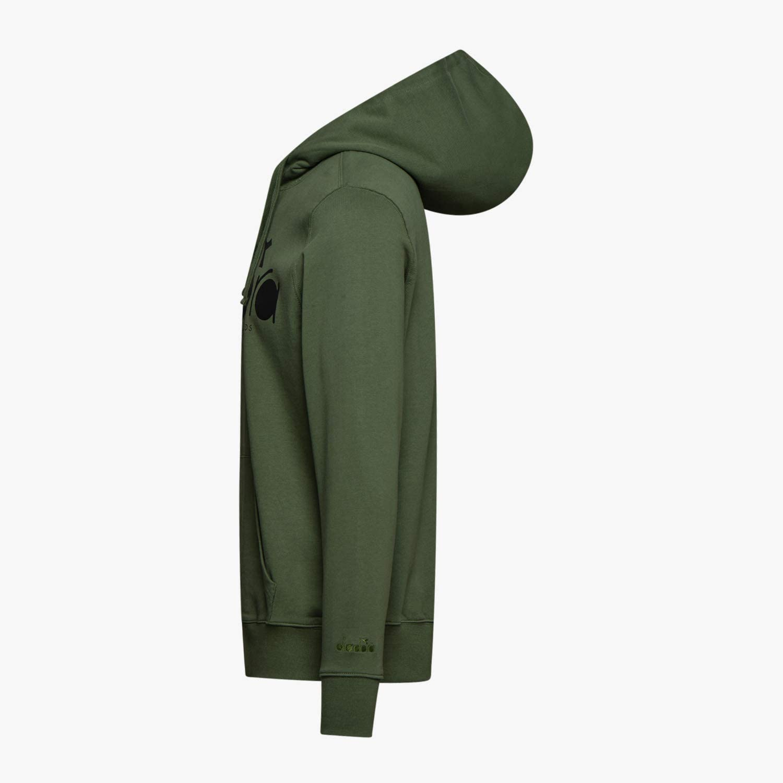 Diadora - Hoodie 5palle, Sudore Uomo 70225 Green Mushroom