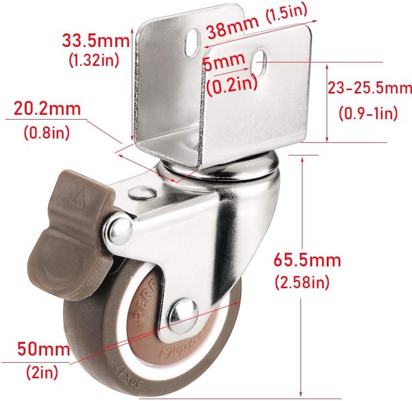 Geovne Schwenkrollen,M/öbelrollen,Gummirollen mit Staubschutz,18mm//20mm//22mm//25mm,f/ür M/öbel,Stuhl R/äder,Ersatz Trolley