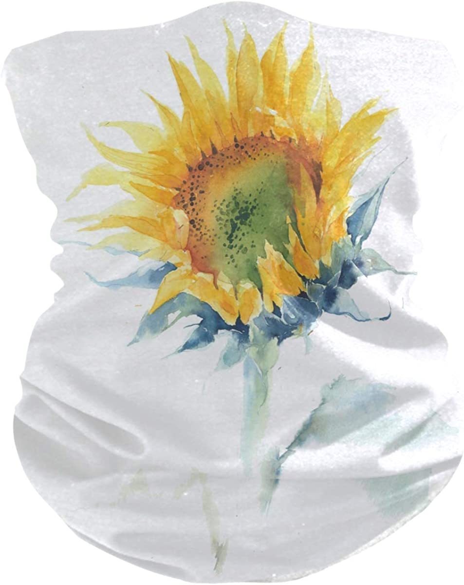 SUABO Face Sun Dust Scarf for Men Sunflower Painting Neck Gaiter Headband Bandana for Women Face Scarf