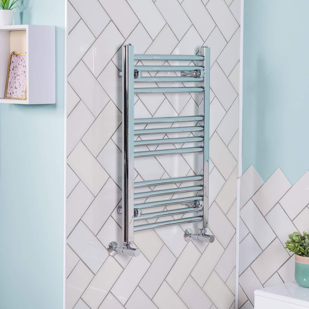 Contemporary Straight Heated Bathroom Towel Rail Radiator Rad 700 x ...