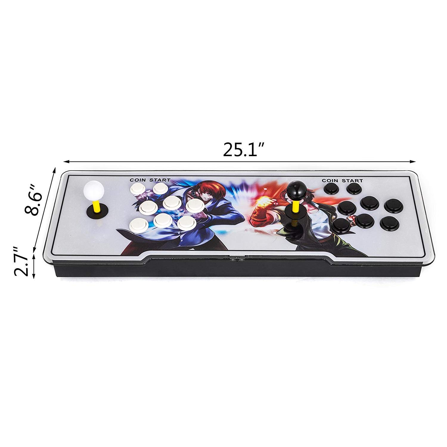 Happybuy Pandora Box 2222 in 1 Arcade Console 9S+ Pandoras Box 2 Players Retro Arcade Station x Full HD Video Game Console with Arcade Joystick Support HDMI VGA USB by Happybuy (Image #2)