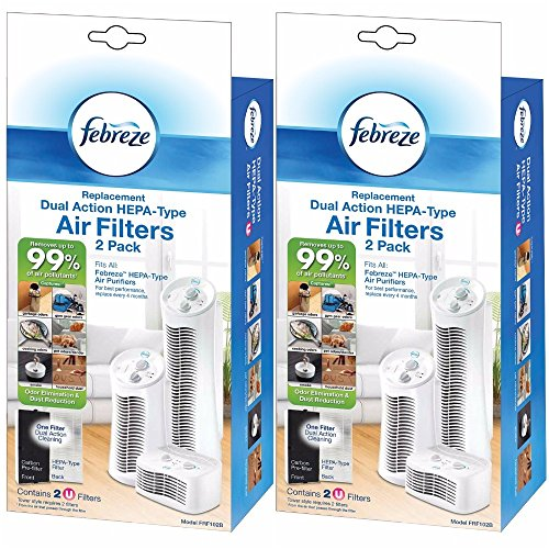 Febreze FRF102B Replacement Dual Action Filter, 4-Pack (Action Filter)