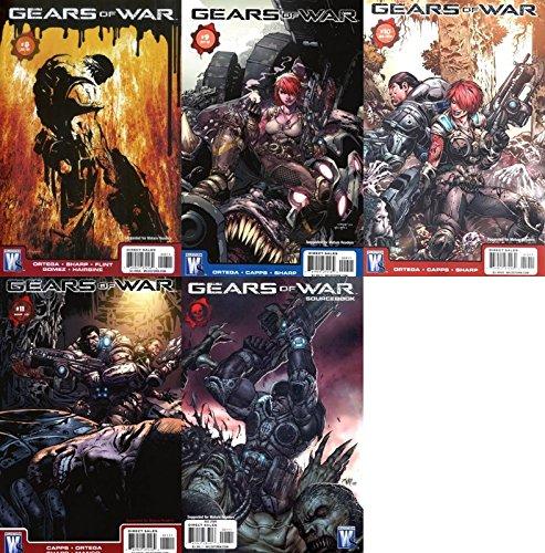 Gears of War #8-11 & Sourcebook (2008-2011) Limited Series WildStorm Comics - 5 Comics