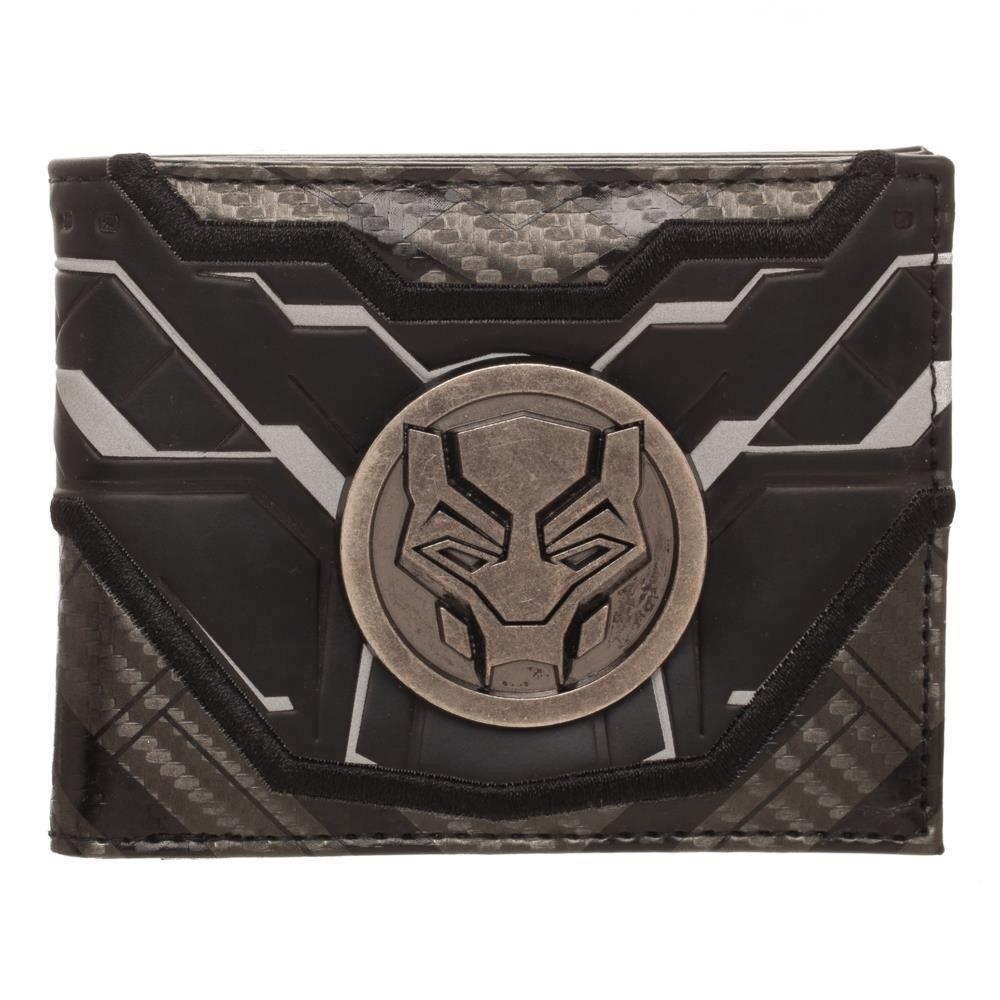 Marvel Marvel Black Panther Black Bi-Fold Wallet BioWorld MW62FZBPM00PP00