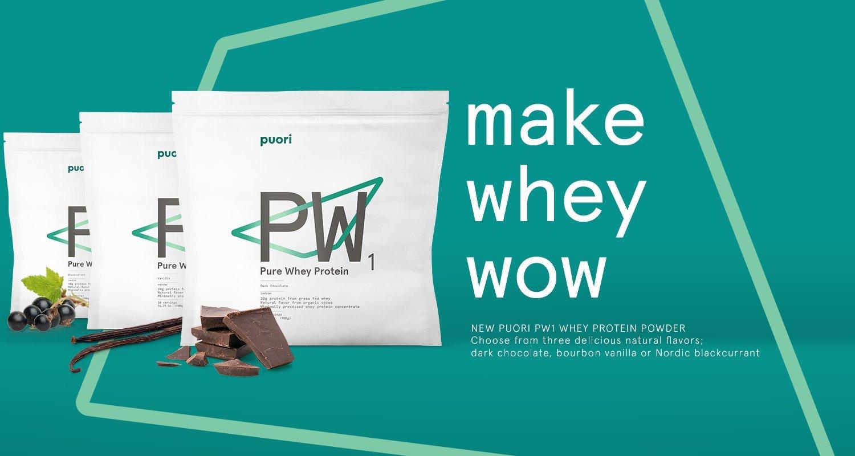 PW1 Organic Grass Fed Whey Protein Shake Powder - Vanilla 900g | 30 Serving | Pure, Non OGM Workout Supplement | Natural Mass Gainer | 100% Bio
