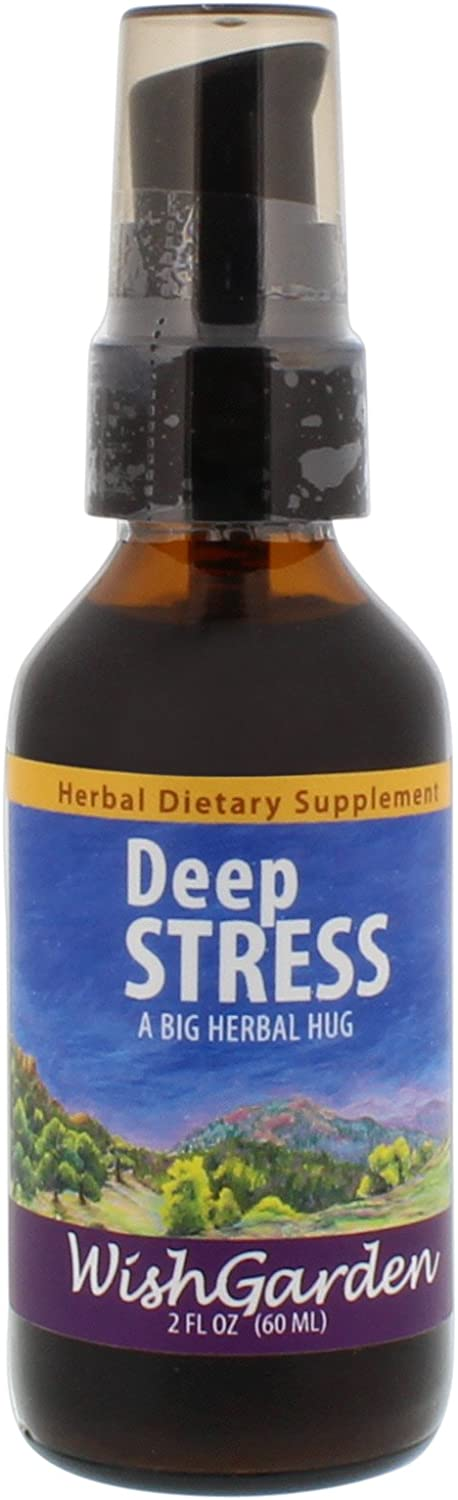 Wishgarden Herbs - Deep Stress, Organic Herbal Stress Relief, Combination of Ten Soothing Herbs Support Normalized Mood & Energy (2 oz)