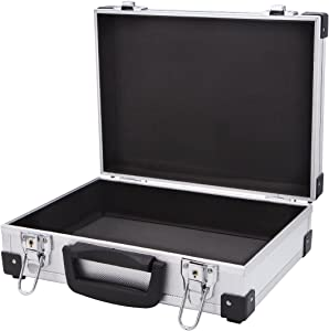 Aluminum Hard Briefcase Hand Gun Cases Office File Toolboxes Travel Flight Cases