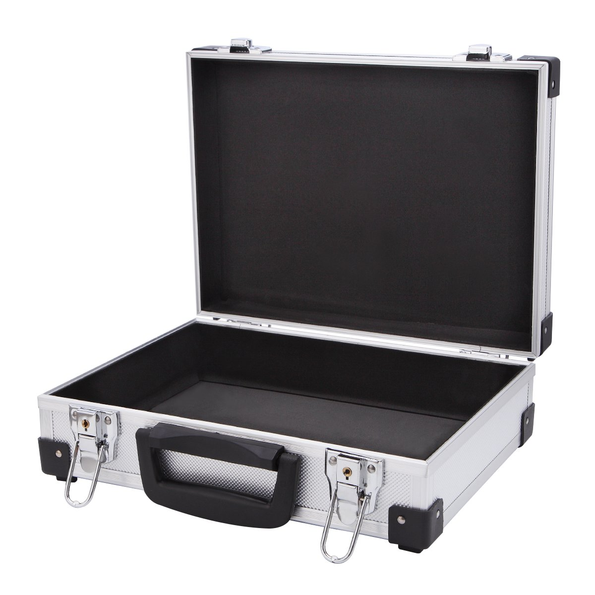 Professional Aluminum Hard Hand Gun Cases Office File Briefcase Outdoor Travel Flight Cases Home Tool Boxes with Quick Locks by ALUBOX (Image #2)