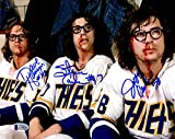 #8: Beckett-BAS Autographed Signed The Hanson Brothers Slap Shot Movie Photo Photograph on Bench