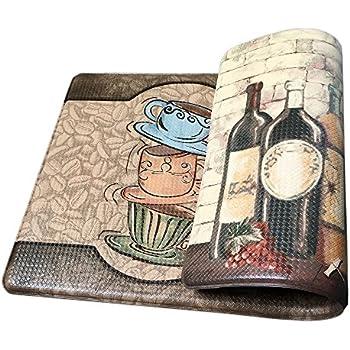 Art3d Premium Reversible Memory Foam Kitchen Mat Anti Fatigue Chef Mat, ...