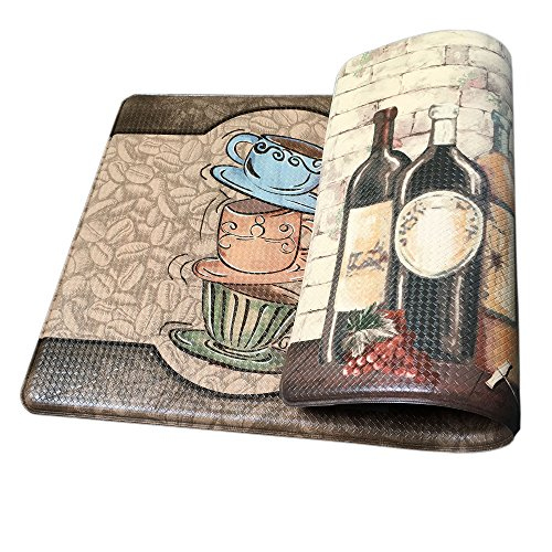 Art3d Premium Reversible Memory Foam Kitchen Mat Anti-Fatigue Chef Mat, 18