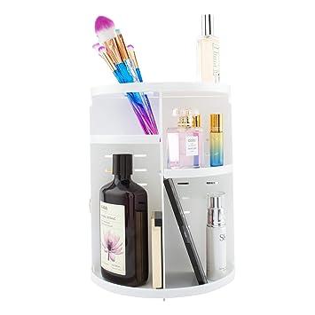 amazon com rotating makeup organizer spinning toiletries holder rh amazon com