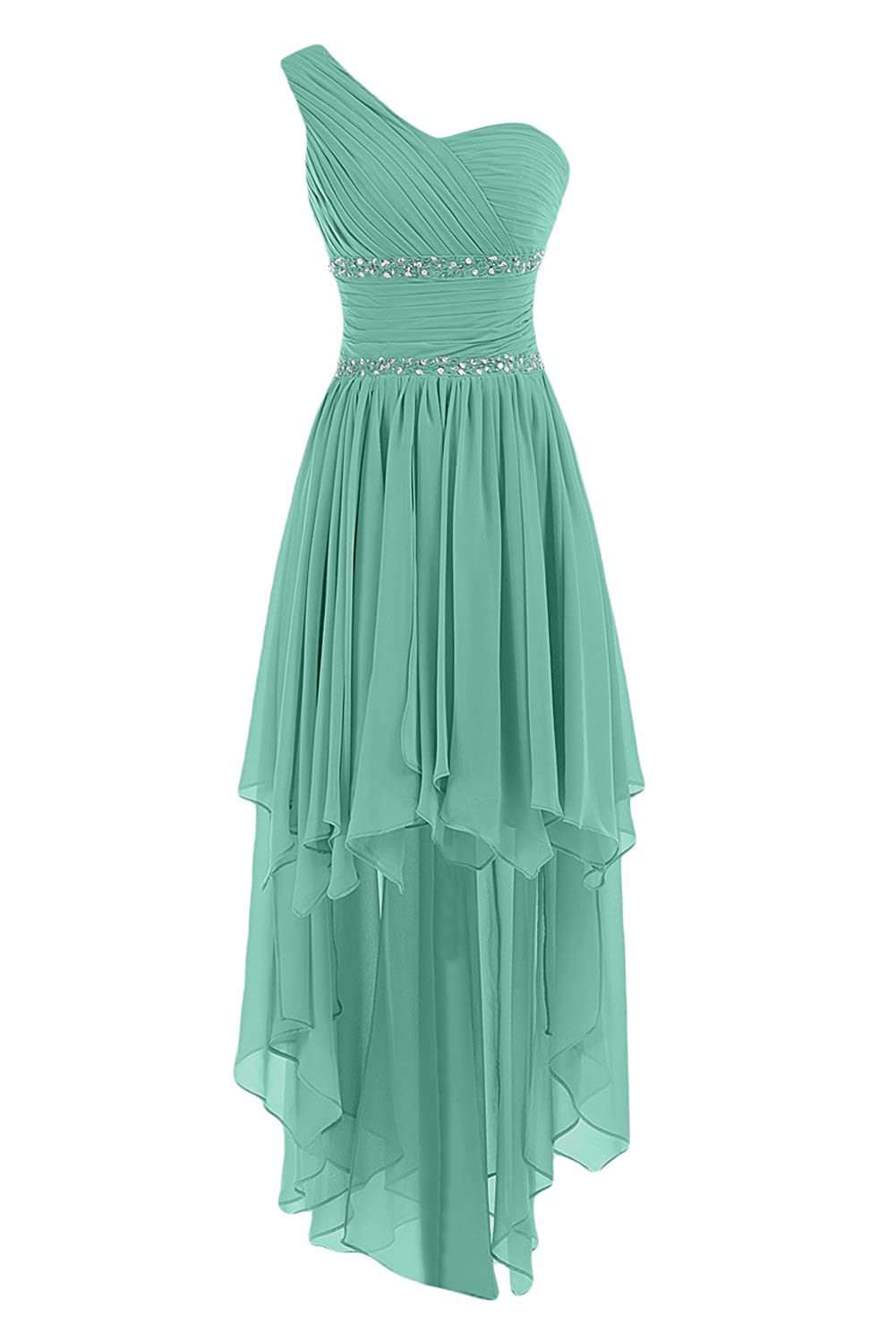 Sunvary One Shoulder High Low Chiffon Bridesmaid Dresses Homecoming Gowns for Juniors