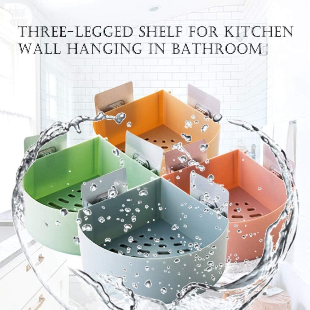 Bathroom Corner Suction Cup Storage Rack 5.7 x 5.7 x 2.6inches Smartcoco Plastic Kitchen Hanging Sundries Organizer Tripod Shelf Bathroom Shower Shelf Green