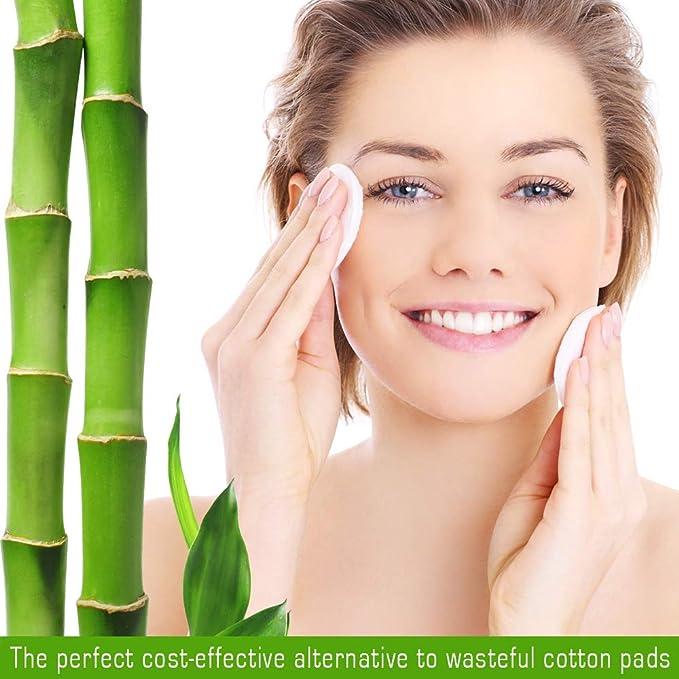 Almohadillas de bambú reutilizables para desmaquillar ...