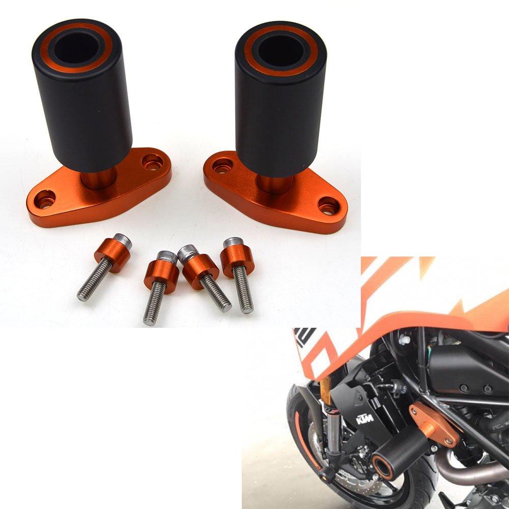 New arancione CNC con cursori protezioni guardia per KTM Duke 125 200 390 2012 13 14 15 YANGHUA