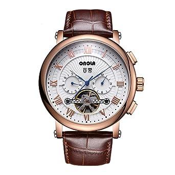 info for 0cca5 35570 Amazon | 腕時計 ONOLA トゥールビヨンスケルトン自動巻き機械式 ...