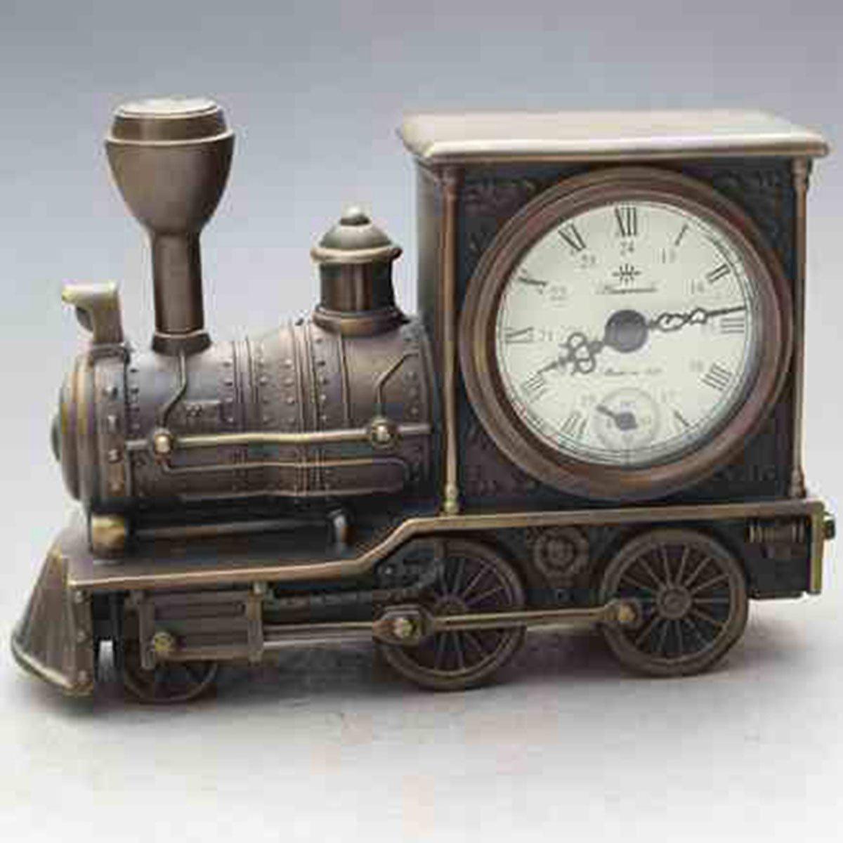 Originality modelling locomotives brass watch Mechanics Desk clock Decoration