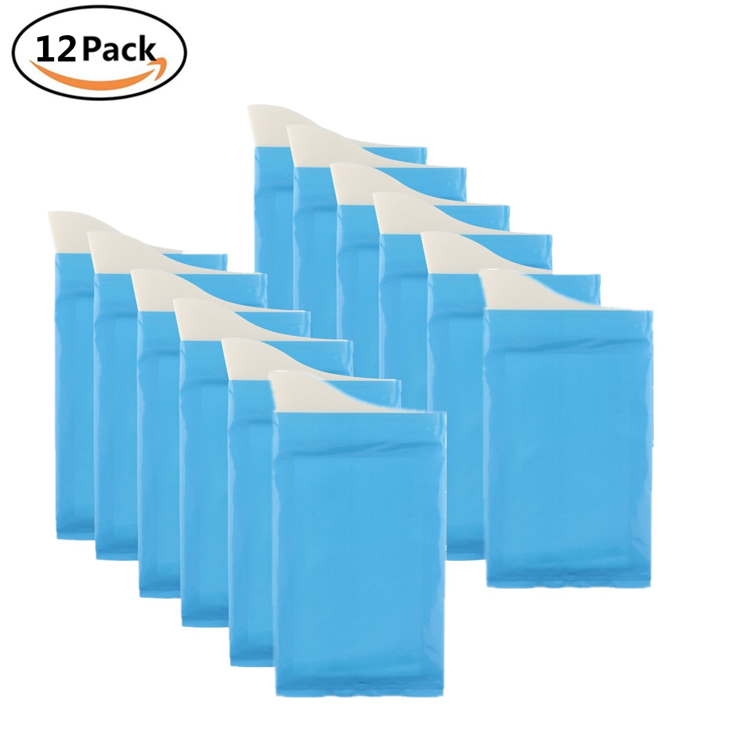 Unisex Men Women Children Brief Relief Disposable Urinal Bags Super Absorbent Packs for Travel Car Traffic Jam Camping 12 Pieces FZAY