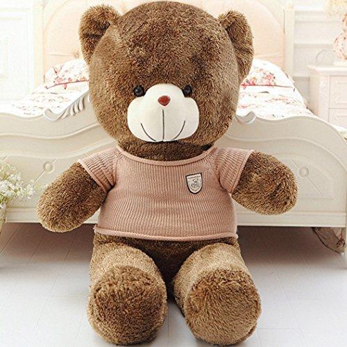 [3 FT 39 Inches Huge Teddy Bear Brown Stuffed Animal Plush Toys Teddy Bear Onesie Gift] (Evil Teddy Bear Halloween Costume)