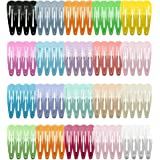 CCINEE 80 Pieces Girls Hair Clips Barrettes, Color Drop Shape Clips Of lovely Girls