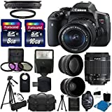 Canon EOS Rebel T6i DSLR CMOS Digital SLR Camera Bundle with Tripod, Lens and Accessories (16 Items)