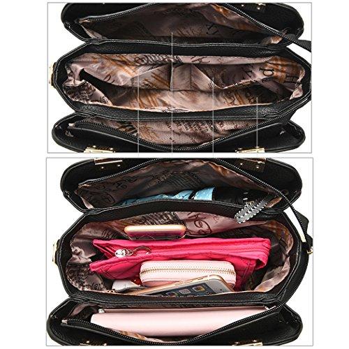 Bag Satchel Red Purse Women Handbag Bag Tote MIOIM Ladies Wine Leather Shoulder Messenger 6I7wvq