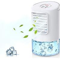 Mobiele Airconditioners, Mini Persoonlijke Airconditioning, 4 in 1 Luchtkoeler Bevochtigingsventilator Nachtlampje, 2…
