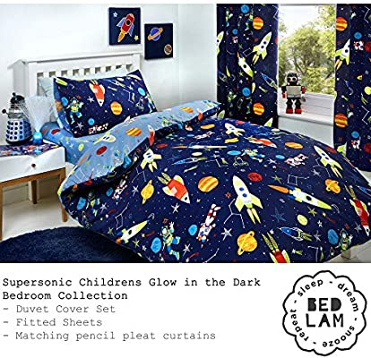 Supersonic Space Toddler Bedding