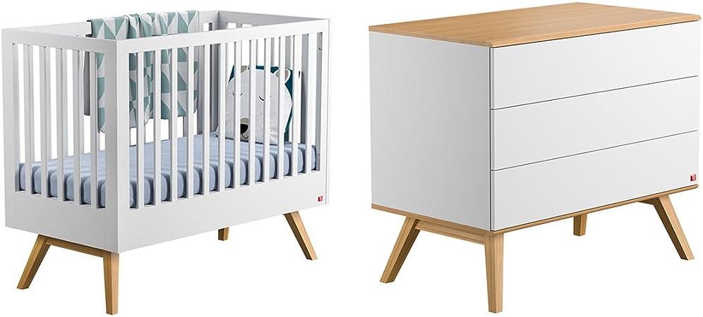 Cuna 60x120 y cambiador Vox Nature - Blanco: Amazon.es: Bebé