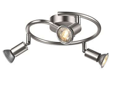 Uchrolls 5w OrientablesX Plafonnier Spots Led 3 Gu10 Ampoule gbIY76vfy