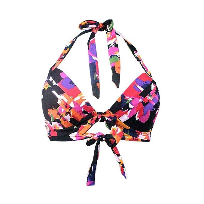 Lau's Maillots de bain femme - Bikinis rétro froncé taille haute à fleurs (Bas de maillots) EU 42-44 La Sortie Meilleure Gros A4FG6ROs