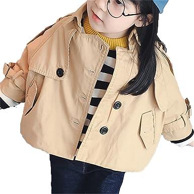 EMIN Mädchen Baby Kids Trenchcoat Frühling Herbst Jacken Mantel Umhang Outwear  Beiläufig Winterjacke Baumwolljacke 0629f36c4c