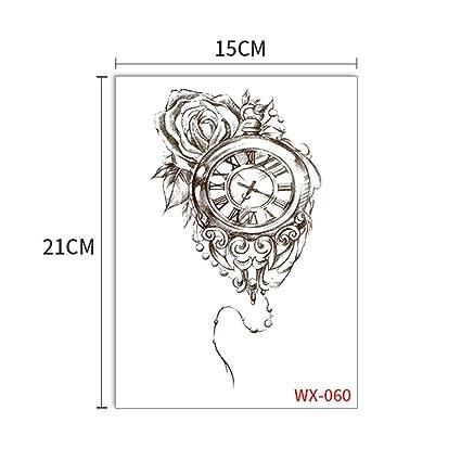 Etiqueta temporal del tatuaje Eagle Robot Brazo Flor Cordón Sol ...