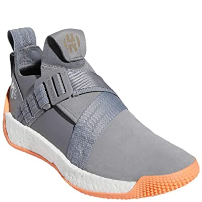 adidas Men's Harden LS 2 Buckle Basketball Grey Three/White/Easy Orange 9.5 | Fashion Sneakers