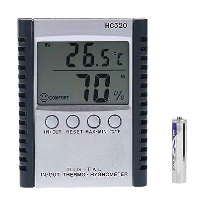 Befaith HC520 Digital In / Out termómetro higrómetro temperatura humedad metro estación meteorológica LCD con sensor