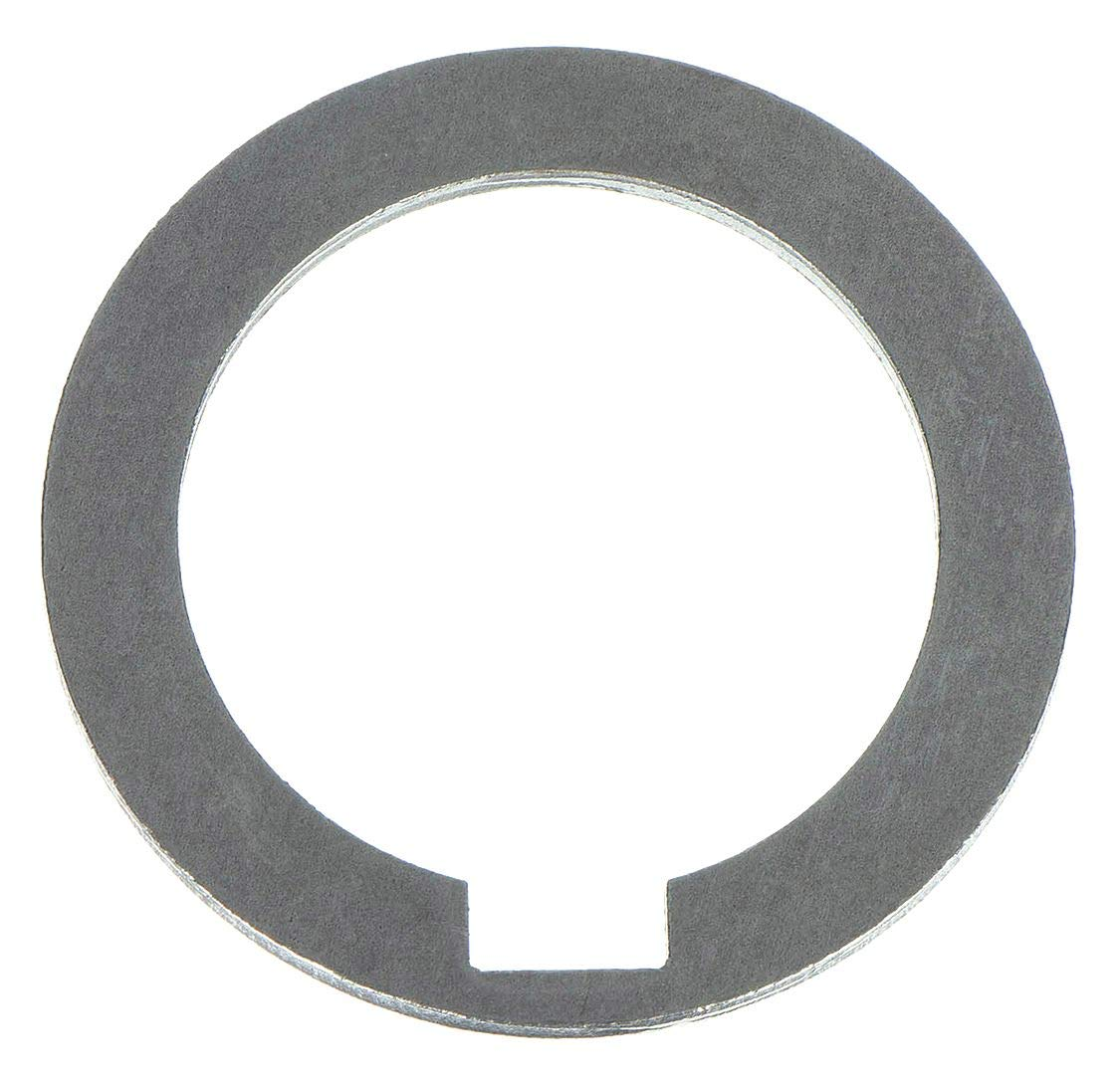 1008/1010 Carbon Steel Notched Shim, Matte Finish, Hard Temper, AISI 1008/AISI 1010, 0.125'' Thickness, 1'' ID, 1-1/2'' OD (Pack of 10) by Small Parts