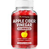 (100 Count) Apple Cider Vinegar Gummies with The Mother | Delicious Alternative to Apple Cider Vinegar Capsules & Apple Cider Vinegar Pills for Weight Loss | Gluten-Free Organic Unfiltered ACV Gummies