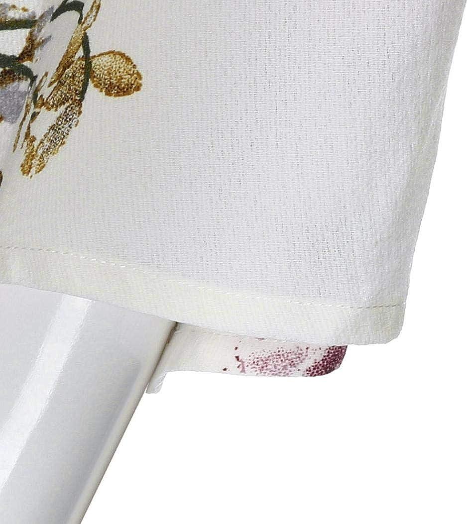 MORCHAN Grande Taille Femmes Hors /épaule Dentelle Floral Impression Chemise en Mousseline de Soie Tops Blouse