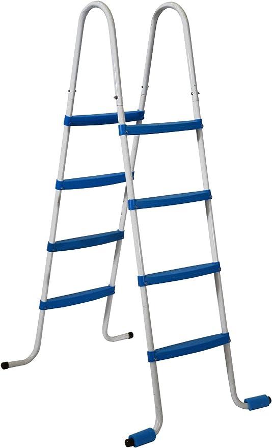 Piscinas Toi 4870 Escalera de 8 peldaños para Piscinas Desmontables, Blanco, 82x68x145 cm: Amazon.es: Jardín
