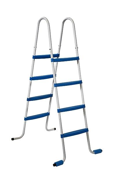 Piscinas Toi 4870 Escalera de 8 peldaños para Piscinas Desmontables Blanco 82x68x145 cm: Amazon.es: Jardín