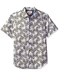 Original Penguin Men's Short Palm Printed Shirt with...
