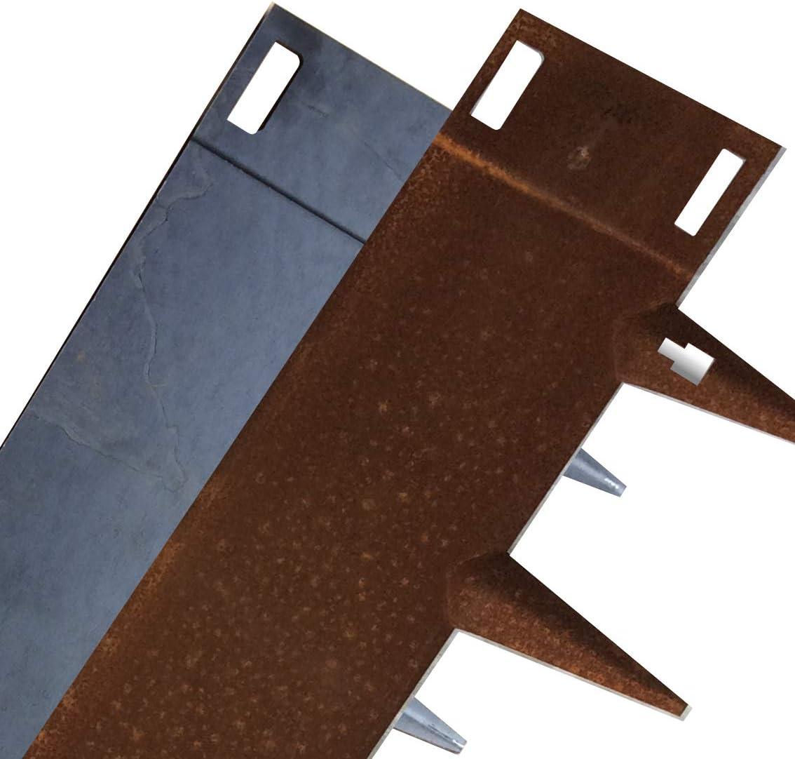Core Edge Heavy Duty Flexible Teel Lawn Edging CorTen 6