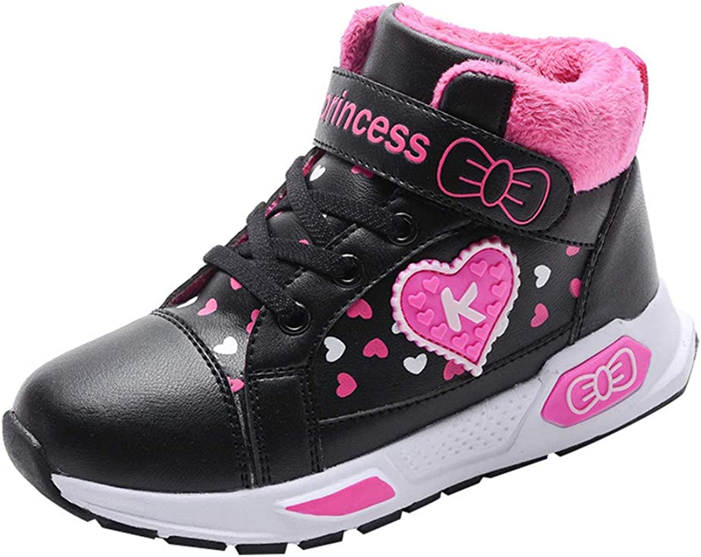 Character Enfants Fille Light Up Baskets Montantes Sport Chaussures Sneakers Casual