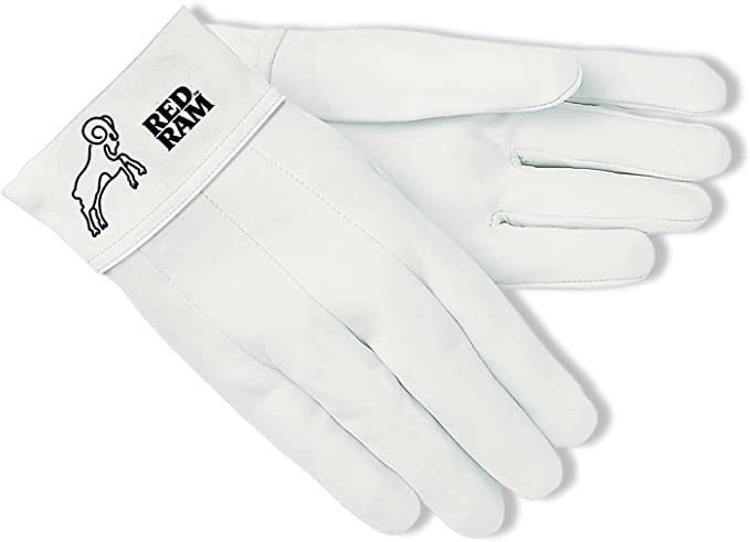 Brown//Cream 1-Pair Large MCR Safety 4921 Red Ram Cow Leather Mig//Tig Welder Gloves with Wing Thumb