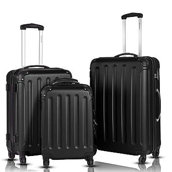 00bff9e32 Goplus 3Pcs Luggage Set, Hardside Travel Rolling Suitcase, 20/24/28 Rolling